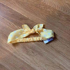 Yellow and white headband